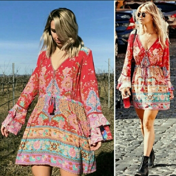 Spell & The Gypsy Collective Dresses & Skirts - Spell designs lotus playdress ruby M mini dress